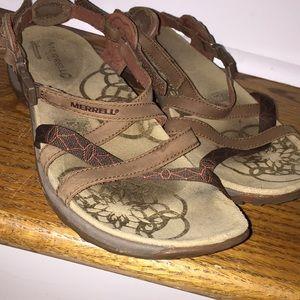 Merrill Qform cushion sandals/rubber walking soles